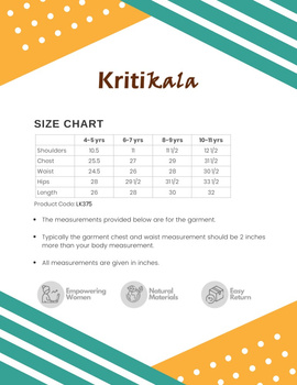 Peach A Line Kurta For Girls: Lk375A-(4-5)-3-sm