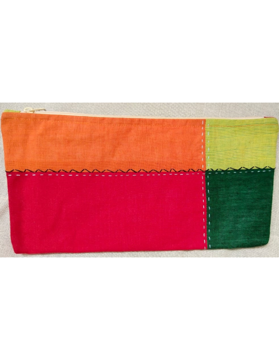 MULTICOLOUR PENCIL POUCH WITH GREEN TONES: PPE02-6