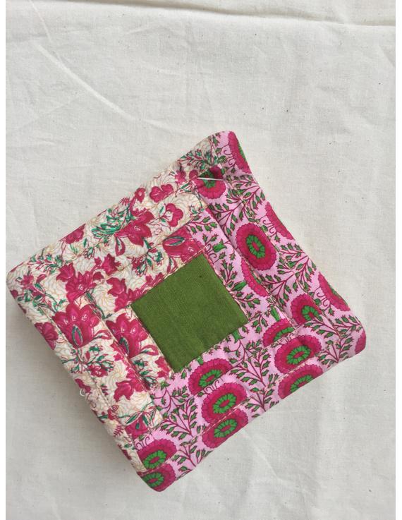 Floral Kalamkari Cushion Cover In Cream And Black - Pack Of Three : HCC02-1