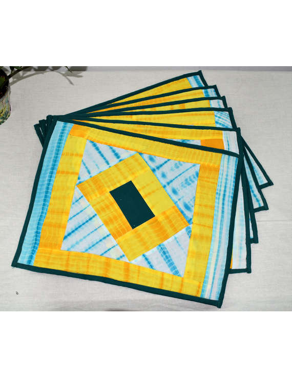 """Tiedye Patchwork Table Mats : 13"""" X 17"""" : HTM05-1"""