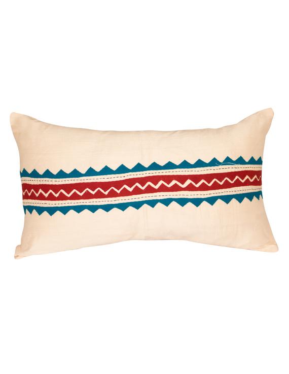 Semi Silk Hand Embroidered Cushion Covers- HCCO1-HCCO1