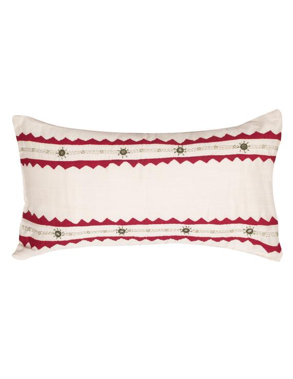 Semi Silk Hand Embroidered Cushion Covers-HCCG1-HCCG1
