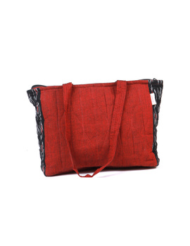 Black Ikat purse bag with pockets : TBD03-1-sm