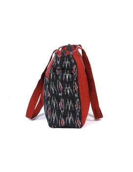 Black Ikat purse bag with pockets : TBD03-2-sm