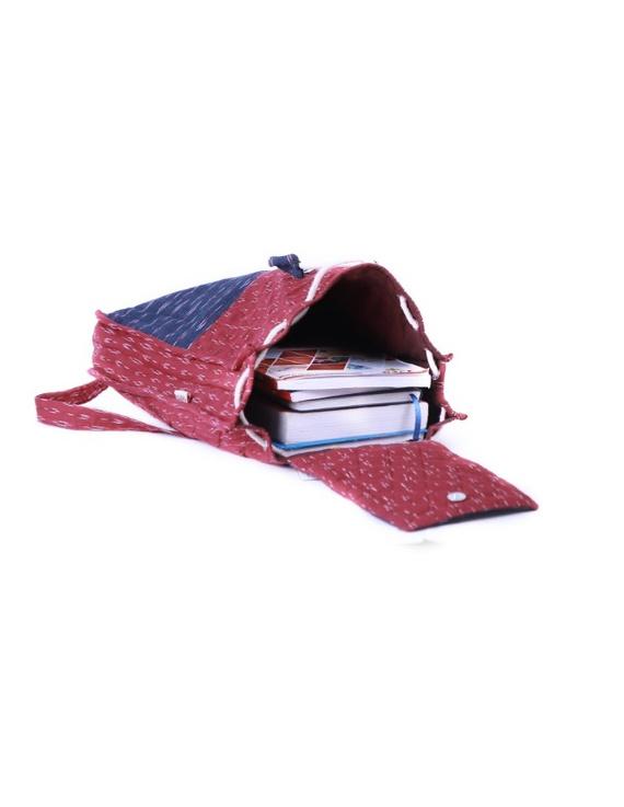 Maroon ikat backpack laptop bag : LBB02-2