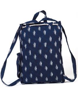 Blue ikat backpack laptop bag : LBB03-2-sm