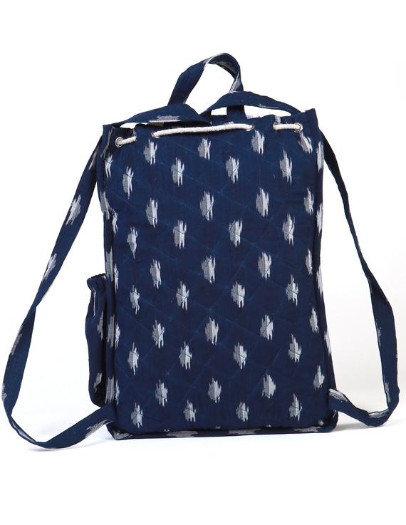 Blue ikat backpack laptop bag : LBB03-2