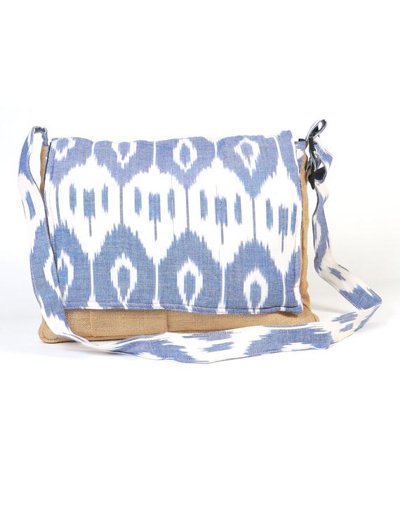 Ikat Laptop bag - blue and white : LBI02-1