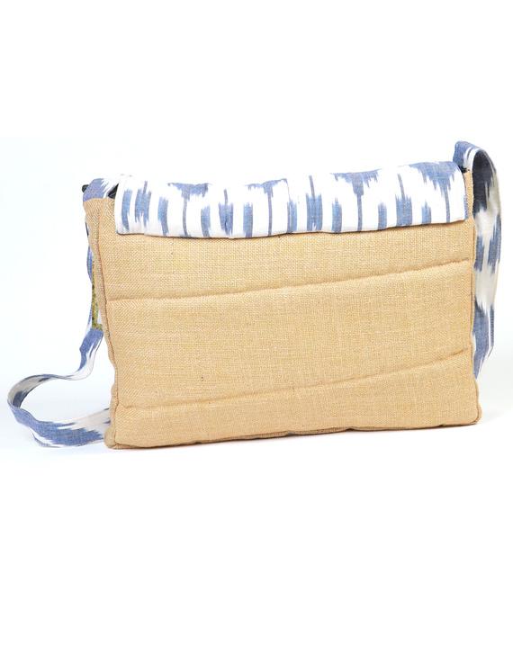 Ikat Laptop bag - blue and white : LBI02-2