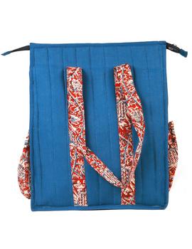 Blue Quilted vertical laptop bag : LBV01-1-sm