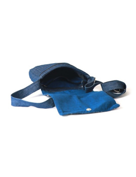 Denim sling bag with embroidery : SBE01-3-sm