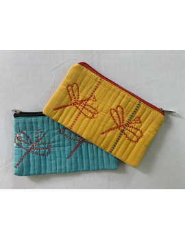 Pencil pouches with hand embroidery - pack of two : PPH01-PPH01-sm