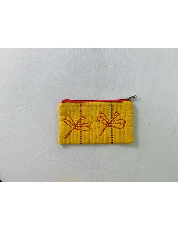 Pencil pouches with hand embroidery - pack of two : PPH01-1