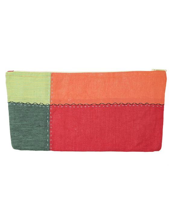 MULTICOLOUR PENCIL POUCH WITH GREEN TONES: PPE02-1