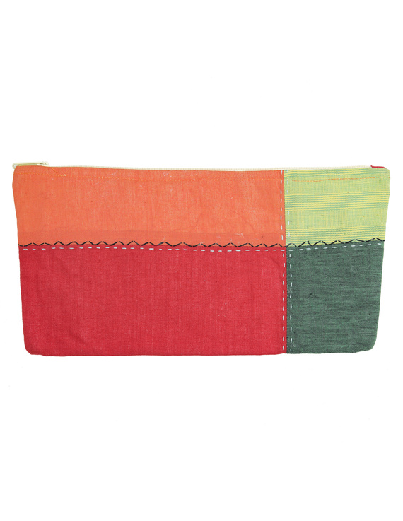 MULTICOLOUR PENCIL POUCH WITH GREEN TONES: PPE02-2