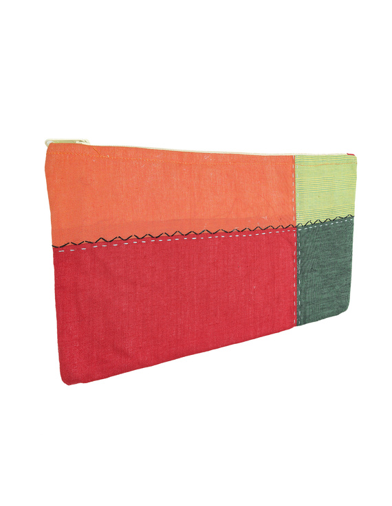 MULTICOLOUR PENCIL POUCH WITH GREEN TONES: PPE02-4