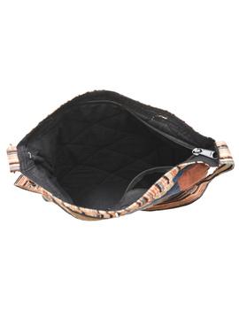 Patchwork quilted jhola bag - brown : SBP02-4-sm