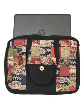 Patchwork quilted laptop bag - black : LBP03-1-sm