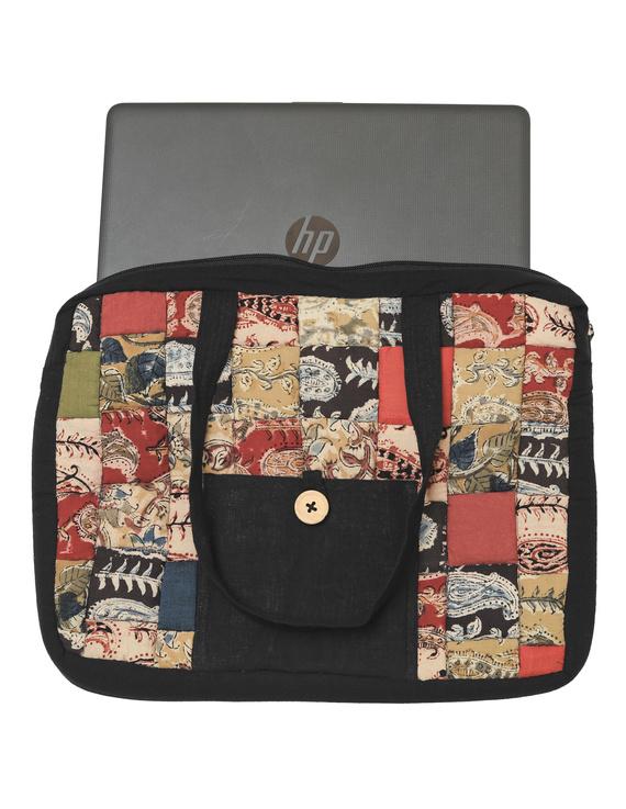 Patchwork quilted laptop bag - black : LBP03-1