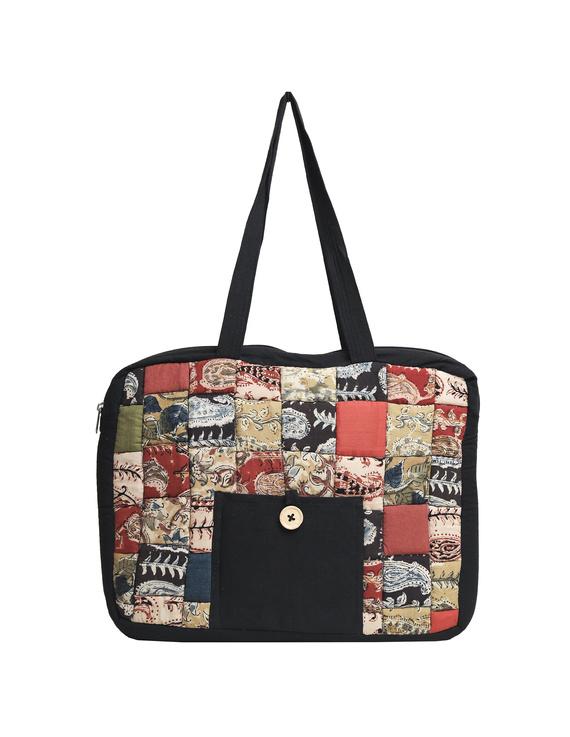 Patchwork quilted laptop bag - black : LBP03-3