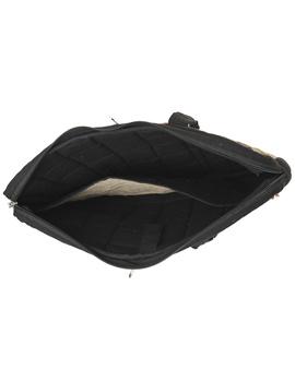 Patchwork quilted laptop bag - black : LBP03-4-sm