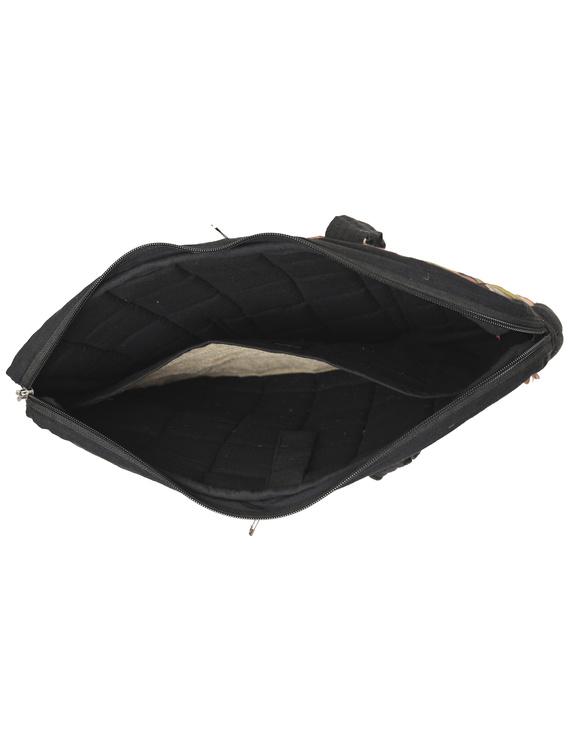 Patchwork quilted laptop bag - black : LBP03-4