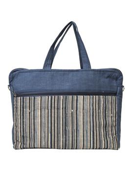Kalamkari Laptop bag With Cross Body Strap - Blue : LBM01-6-sm
