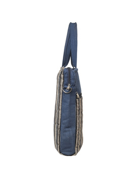 Kalamkari Laptop bag With Cross Body Strap - Blue : LBM01-7-sm