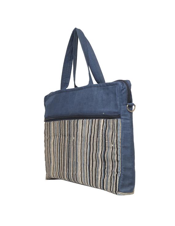Kalamkari Laptop bag With Cross Body Strap - Blue : LBM01-8