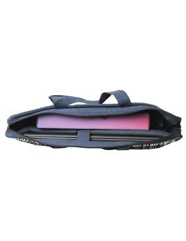 Kalamkari Laptop bag With Cross Body Strap - Blue : LBM01-9-sm