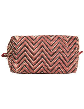 Brown chevron travel pouch : VKP03-2-sm