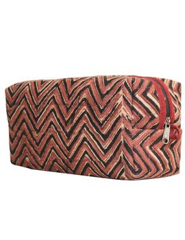 Brown chevron travel pouch : VKP03-3-sm