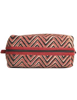 Brown chevron travel pouch : VKP03-4-sm