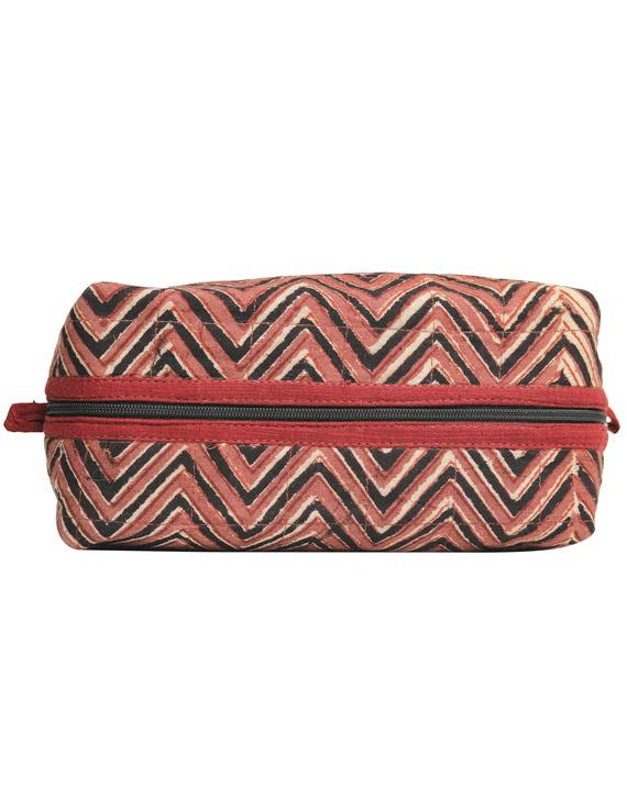 Brown chevron travel pouch : VKP03-4