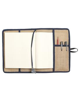 Reusable diary sleeve with diary  :  STJ02-Handmade paper-2-sm