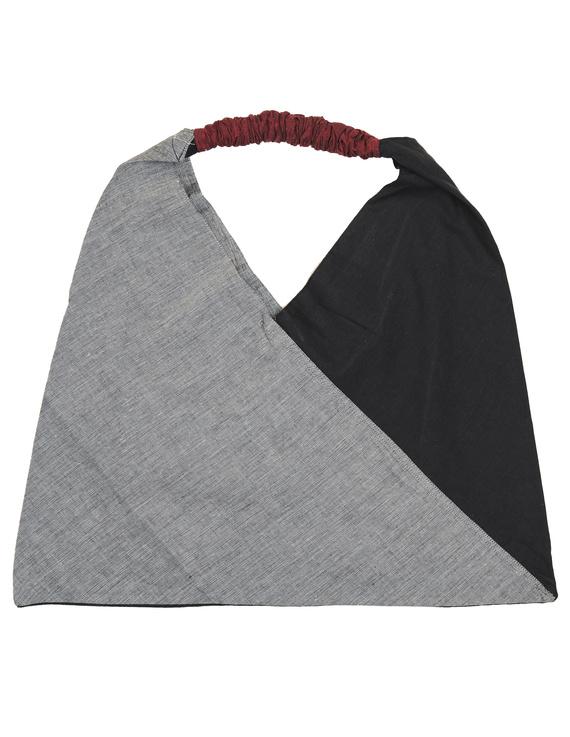 Black and grey cross strap bag : TBR01-2