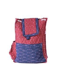 Maroon ikat backpack laptop bag : LBB02-1-sm