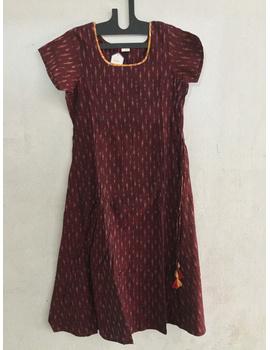 Cold shoulder ikat dress-SK34-sm