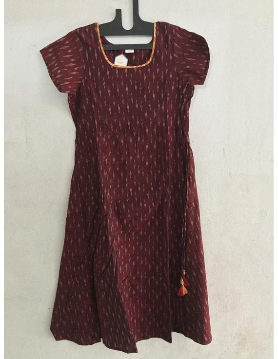 Cold shoulder ikat dress-SK34