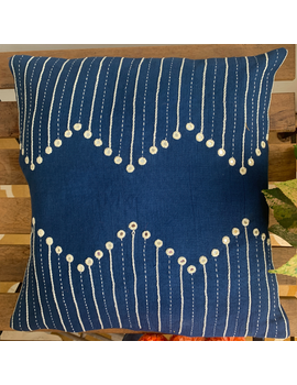 Indigo mirror embroidered cushion cover : HCC20-HCC20-sm