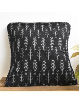 Black mercerised ikat cushion cover : HCC24-HCC24-sm