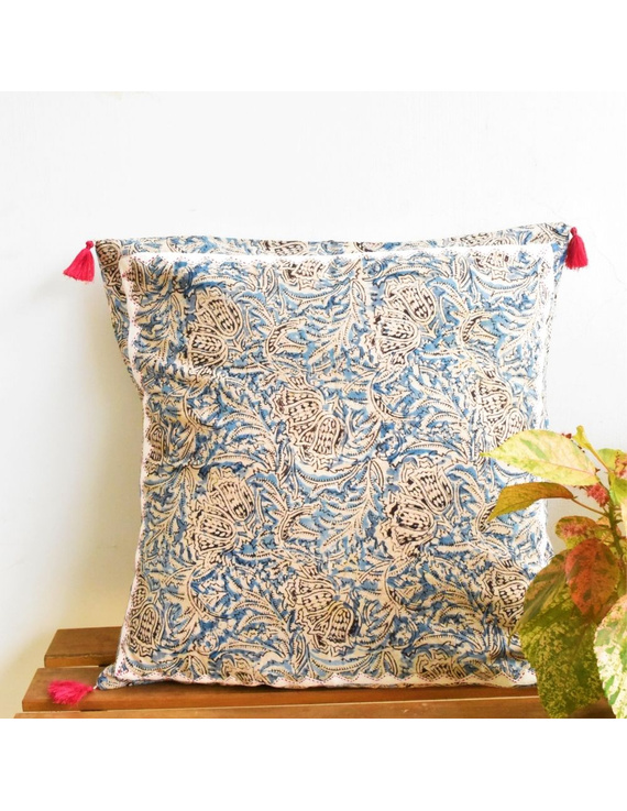 Embroidered kalamkari cushion cover : HCC25-HCC25