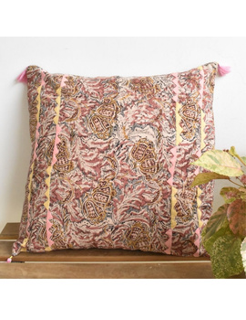 Embroidered kalamkari cushion cover : HCC26-HCC26-sm