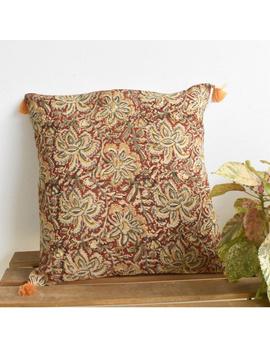 Plain kalamkari cushion cover : HCC27-HCC27-sm