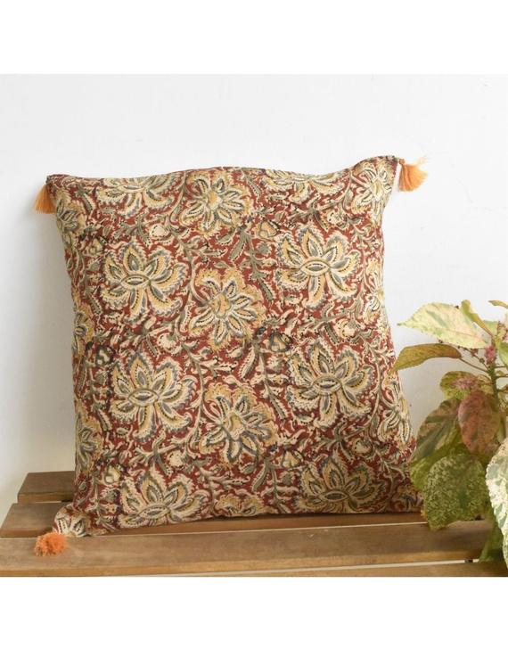 Plain kalamkari cushion cover : HCC27-HCC27