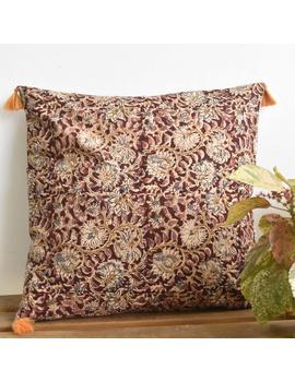 Plain kalamkari cushion cover : HCC28-HCC28-sm