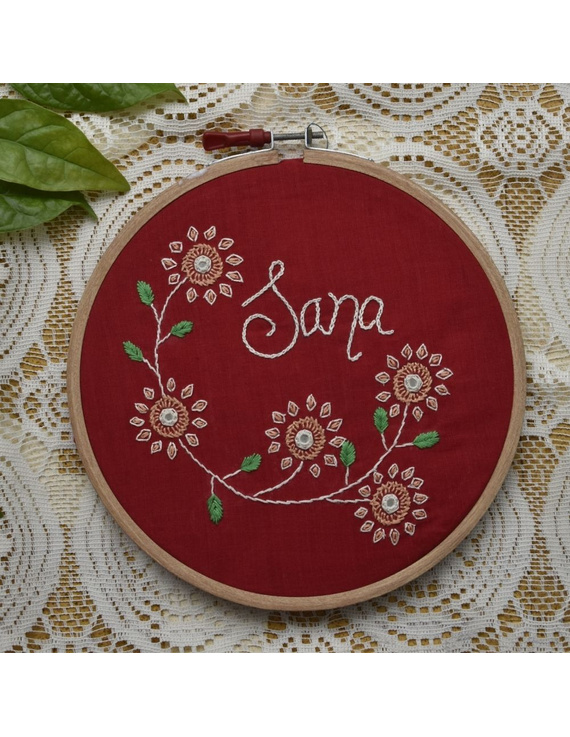 Customised embroidery hoop  wall hanging: HEH03-HEH03