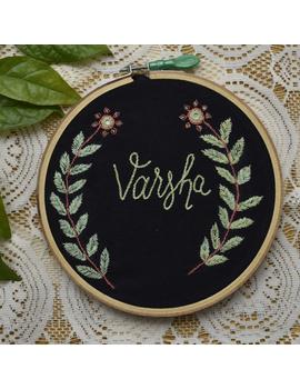 Customised embroidery hoop  wall hanging: HEH04-HEH04-sm