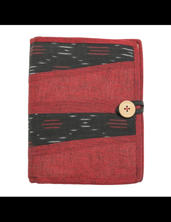 Reusable diary sleeve with diary - maroon : STJ04-Ruled-1
