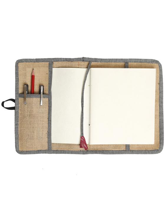 Reusable diary sleeve with diary - Grey : STJ05-Ruled-2